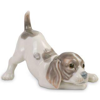 "Lladro Porcelain "" Playful Puppy Dog"" Figurine"