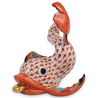 Herend Hungary Koi Fish Porcelain Figurine