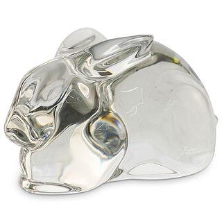 Baccarat Rabbit Clear Crystal Figurine