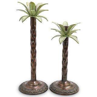 (2 Pc) Palm Tree Candle Holders