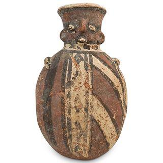Pre-Columbian Peruvian Chancay Pottery Olla Man