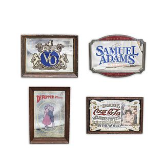 (4 Pc) Vintage Advertising Mirror Set