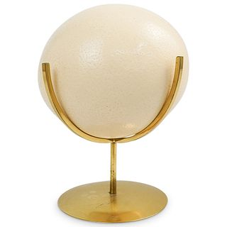 Ostrich Egg on Brass Stand