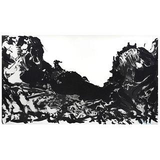 DAVID ALFARO SIQUEIROS V, de la carpeta El Canto General, 1968. Firmada. Litografía Eprauve d' Artiste. Impresa por Mourlot.