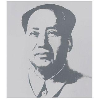 """ANDY WARHOL. Mao - Silver. Con sello en la parte posterior """"Fill in your own signature"""". Serigrafía sin número de tiraje."""
