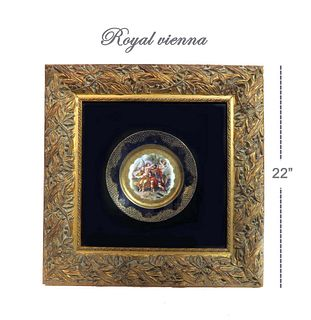 19th C. Royal Vienna Framed Plate