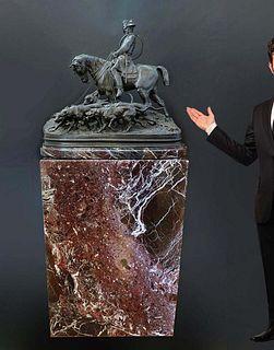 PJ Mene Monumental Sculpture of Napoleon on Marble Base