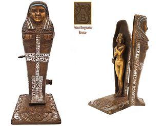 THE SARCOPHAGUS SURPRISE, Large BERGMAN Bronze Figurine
