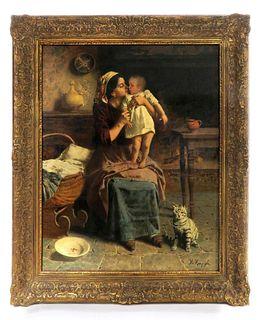 Eugenio Zampighi, Italian, 1859-1944, Oil on Canvas