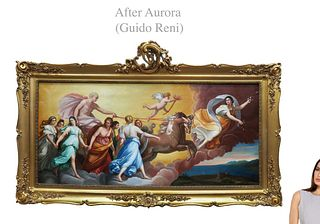After Guido Reni, Very Large L'Aurora Painting, 19th C.