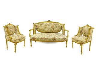Fine 19th C. French Louis XVI Style Parlor Set