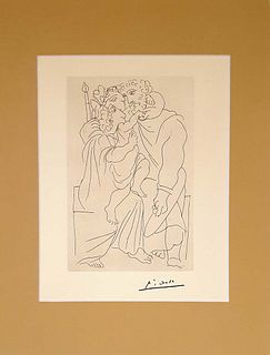 From LYSISTRATA, PABLO PICASSO LITHOGRAPH PRINT, 1962