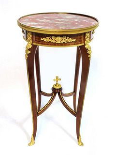 Francois Linke Louis XV Style Table Ambulante, Signed