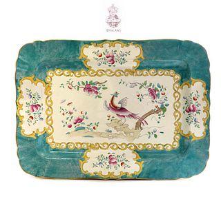 A Large Edwardian Phoenix & Floral Minton's Tray