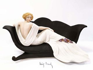 1937 Le Sofa, After Louis Icart Figurine, Ltd Edition