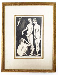 The Betrothed, Dorothy Rutka Original Lithograph Signed