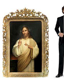 Jan Adam Kruseman (Haarlem 1804-1862) Portrait of Jesus