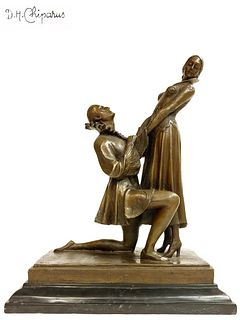 Apology, After D.H.Chiparus Bronze Statue, Signed