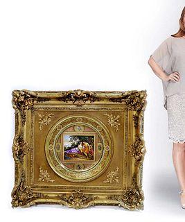 Monumental Royal Vienna VENUS &. ADONIS Framed Charger