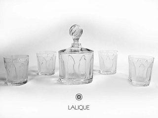 Les Femmes Lalique Crystal Liquor Set