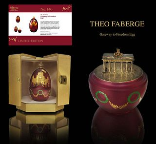 Faberge Gateway to Freedom Egg by Theo Faberge, COA
