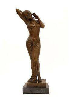 An Original Lost Wax Bronze Sculpture By Aldo Vitaleh