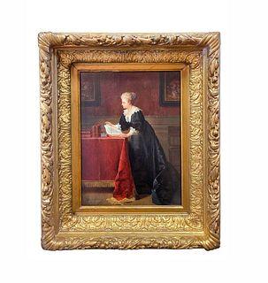 Jean de la Hoese (Belgian, 1846-1917) Painting