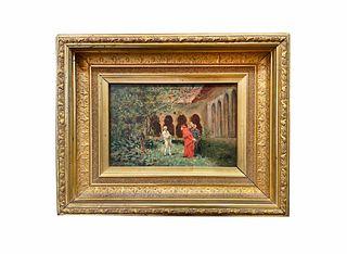 Charles Edouard Edmond Delort (1841-1895) Oil on Panel