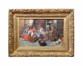 Augusto Daini (1860-1920) Watercolor on Paper, Signed