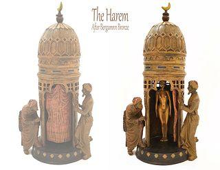 The Harem After Bergman Patinated Bronze Figurine Group