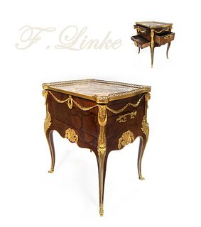 Exceptional F. Linke Mahogany/Ormolu Side Table/Cabinet