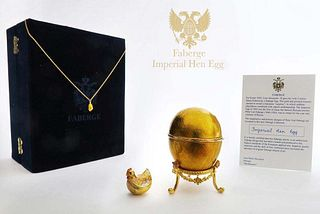 Faberge Imperial Hen Egg with Certificate
