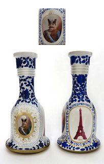 19th C. Pair of Persian Qajar Hooka