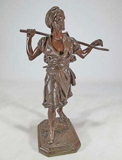 Emile PINEDO (1840-1916) Arabe en Marche bronze statue