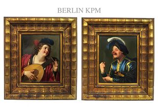 Pair of 19th C. Exceptional Quality Berlin KPM Plaques