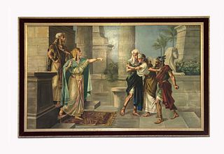 Moses' Mother at Pharaoh's Court, Large Oil on Canvas