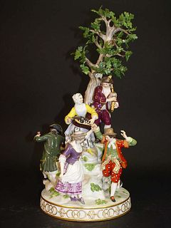 19th C. Meissen Musical Porcelain Figurine Group