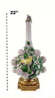 """H 22\"""" Large Meissen Snowball (Schneeballen) Vase"""