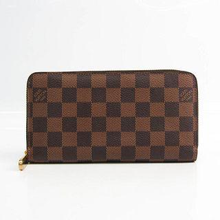 Louis Vuitton Damier Zippy Wallet N60015 Unisex Damier Canvas Long Wallet (bi-fold) Ebene