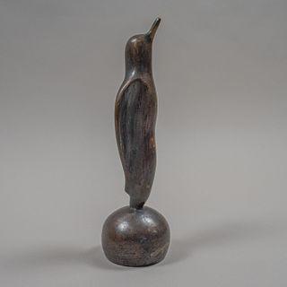 Pingüino estilo Art Decó en bronce patinado / Art Deco bronze penguin sculpture