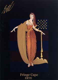 Fringe Cape, Vintage ERTE Lithograph Poster, 1993