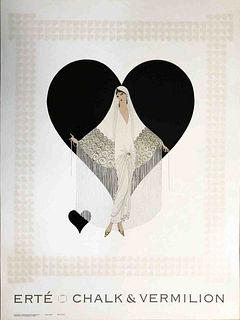 Fringe Gown, A Vintage ERTE Lithograph Poster, 1993