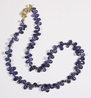 Briolette-Cut Iolite Strand Necklace