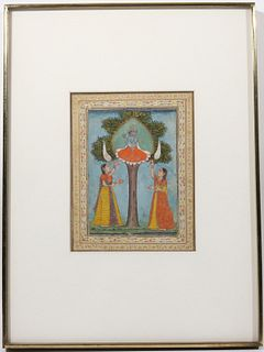 Indian Gouache and Watercolor Miniature Painting