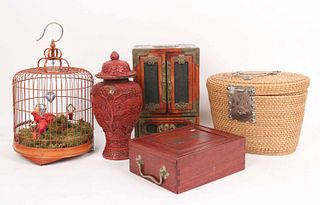 Group of Five Assorted Chinese Items