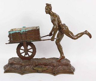 """Georges Coudray, """"Coureur Japonais"""" Bronze Figure"""