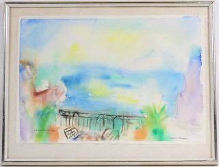 Louise Freedman, Watercolor, Sorrento Terrace