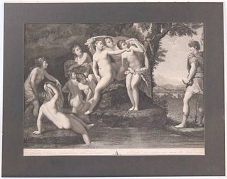 Francesco Albani, Engraving, Classical Nude Women
