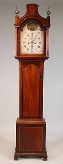 George III Inlaid Mahogany Tall Clock