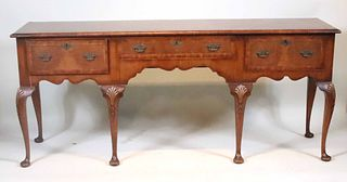 Queen Anne Style Mahogany Welsh Dresser Base